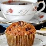 Υγιεινά μάφινς με τσάι Earl Grey, βρώμη και κουβερτούρα