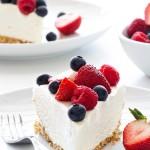 Cheesecake με ανθότυρο και φρούτα