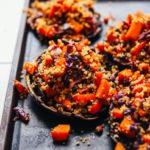 Μανιτάρια portobello γεμισμένα με κινόα και λαχανικά